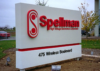Custom Fabricated Architectural Channel Letters Corporate Color Matched On Sturdy .125 Aluminum Monolith